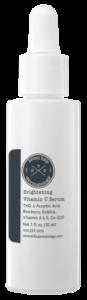 A white container that reads: Brightening Vitamin C Serum