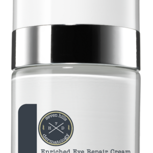 A white container that reads: Enriched Eye Repair Cream