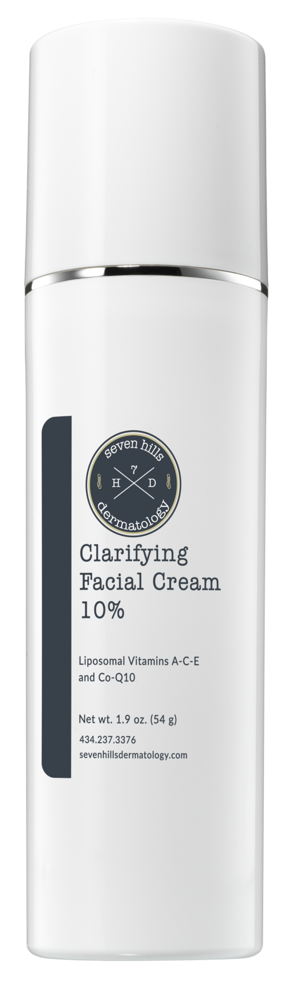 A white container that reads: Clarifying Facial Cream 10%