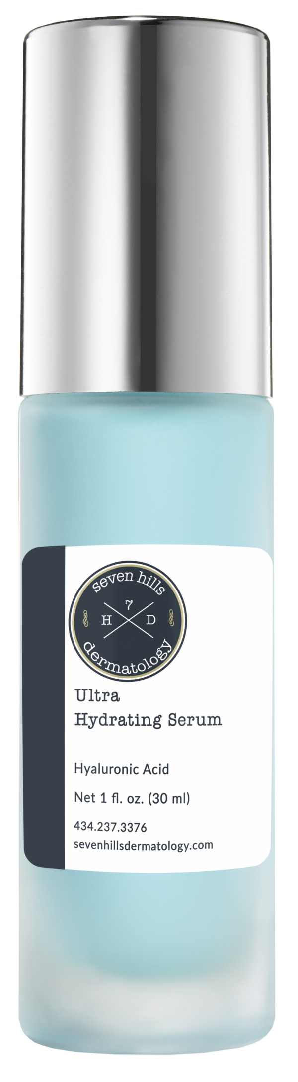 A blue container that reads: Ultra Hydrating Serum