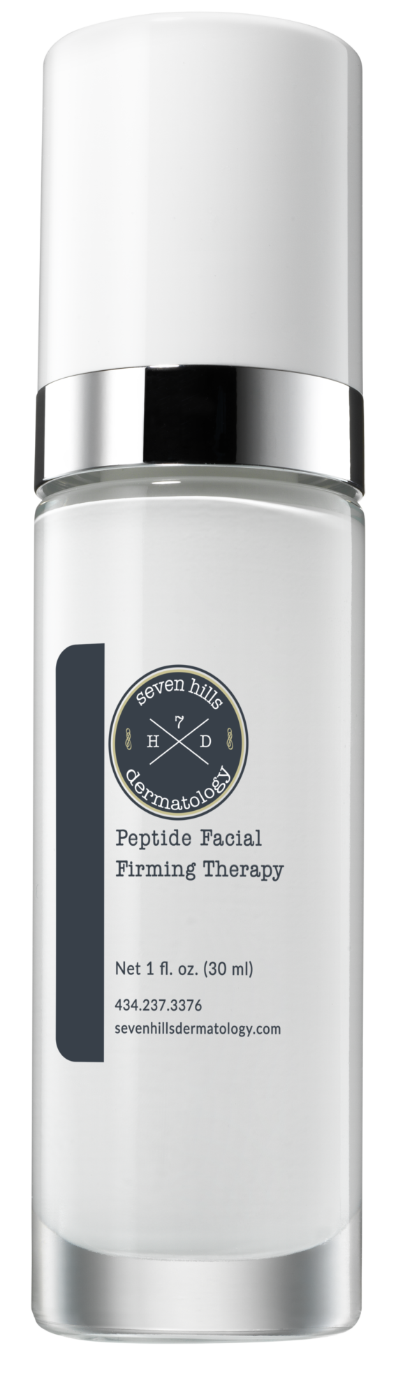 A white container that reads: Peptide Facial Firming Therapy